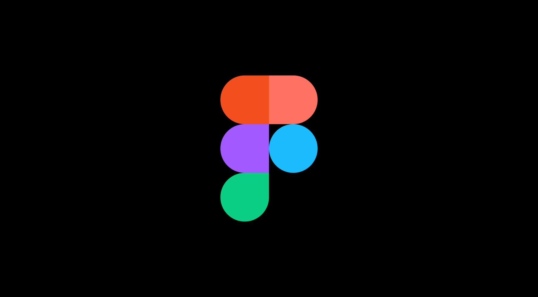 Figmas logotyp på en svart bakgrund