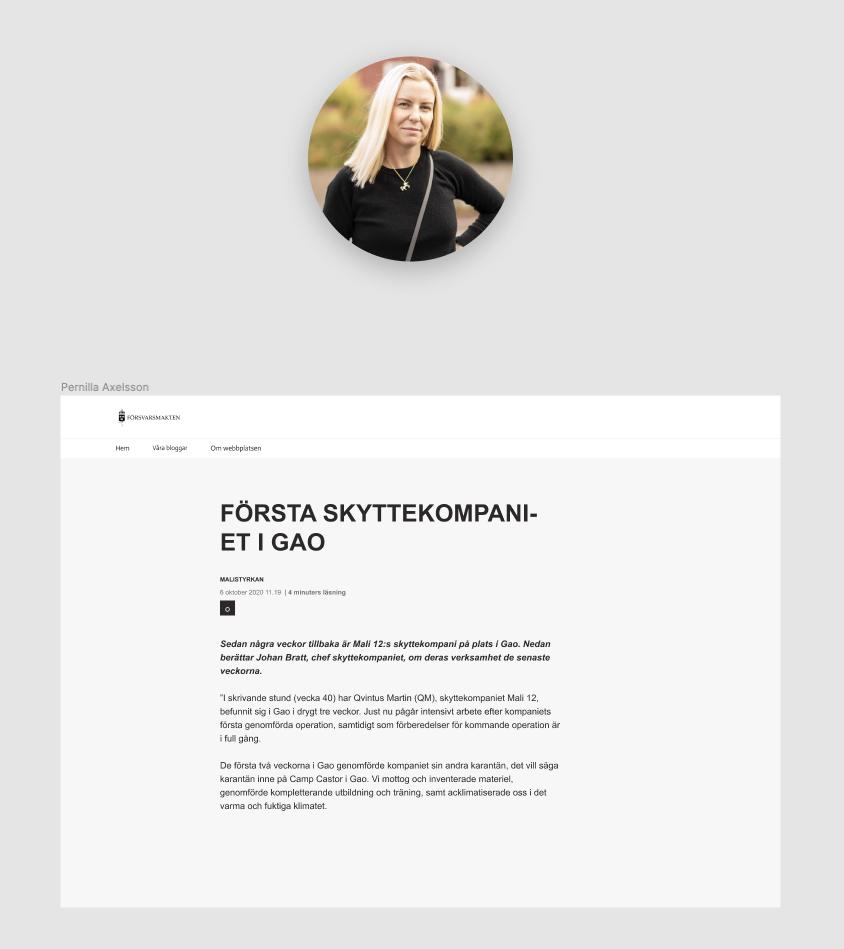Pernillas arbete i Figma där hon hanterar text