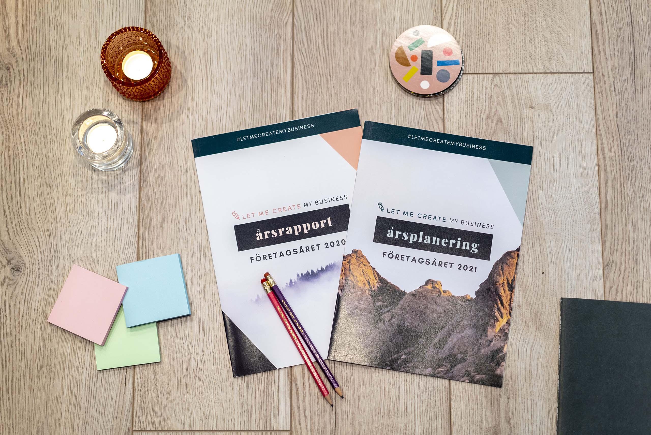 Årsplaneringen och Årsrapporten av Let me Create